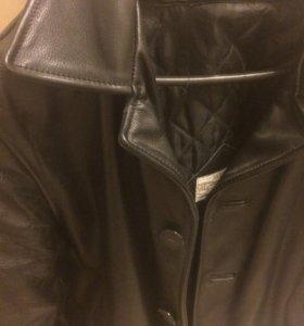 Натуральная кожа! Кожа толстая! Куртка тяжелая .