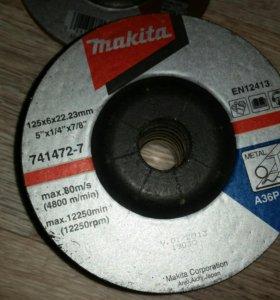 Отрезные, шлифовальные диски макита и луга
