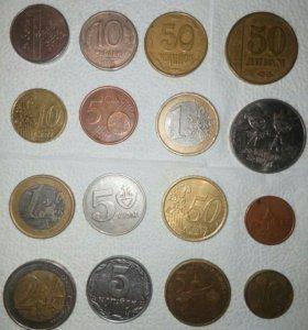 Монет разных стран.если оптом за 500 рублей отдам