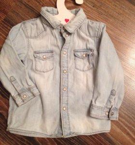 Рубашка джинсовая на мальчика H&M
