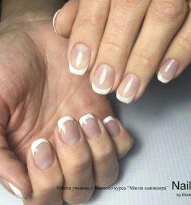 Наращивание ногтей###Маникюр###покрытие гель лаком