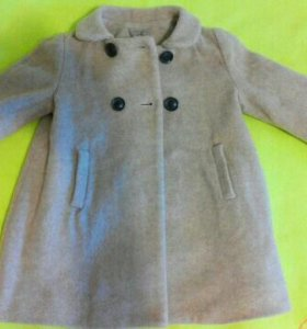Пальто для девочки ZARA р-р 80 см.