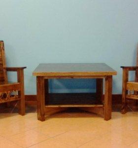 Кресло, журнальный столик , ручная работа