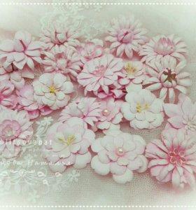 Цветы для скрапбукинга. Цветы ручной работы