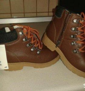 Новые демисезонные ботинки 28 р-р