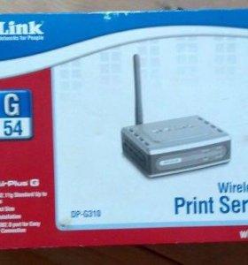 Беспроводной принт-сервер D-Link DP-G310
