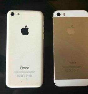 Продам или обменяю iPhone 5c и iPhone 5s