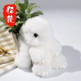 Пушистый заяц (брелок)