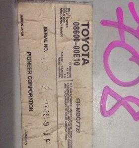 Магнитола Toyota 08600-00E10
