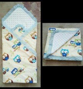 Одеялко- конверт для новорожденного