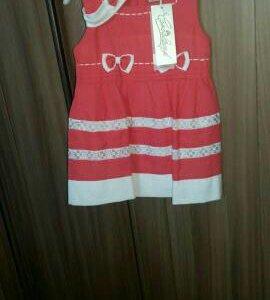 Новое нарядное платье рост 92