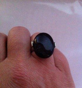 Кольцо с авантюрином бижутерия