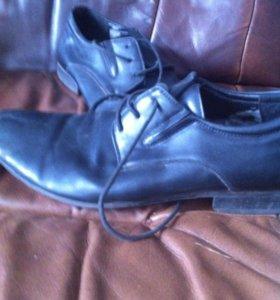 Кожаные ботинки почти даром
