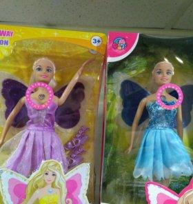 Кукла-фея со светящимися крыльями