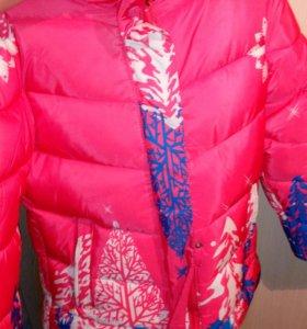 Зимняя куртка и брюки-полукомбинезон