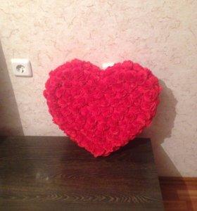 Сердце из салфеток и картона