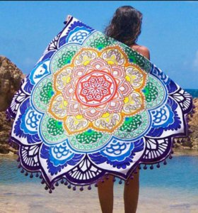 Пляжный платок-накидка-коврик