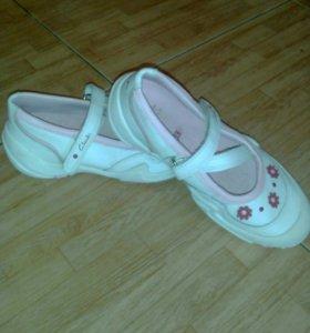 Туфельки на девочку натур. Кожа