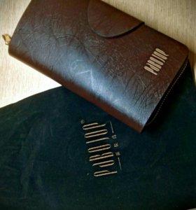 Клатч кошелек портмоне натуральная кожа мужской