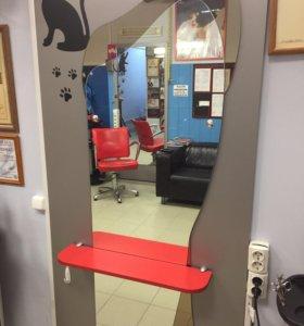 2 зеркала в парикмахерскую