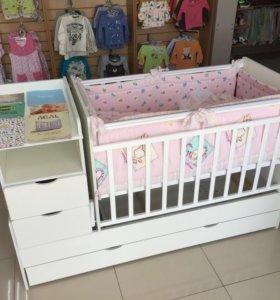 Кроватка СКВ-Жирафик