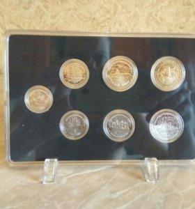 300 лет Русскому флоту набор монет в витрине