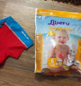 Плавки на малыша 6-12мес и подгузники для плавания
