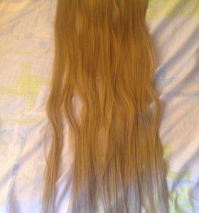 Волосы на заколке 70 см
