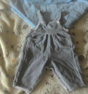 Боди штанишки полотенце