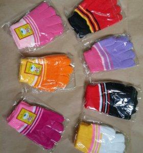 Перчатки детские на 2-6 лет новые!