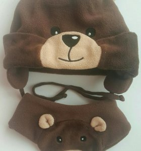 Плюшевый комплект (шапка и шарф)
