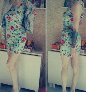 Мятное платье