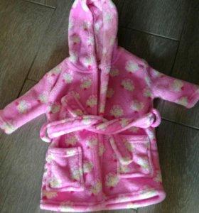 Плюшевый халат на малышку