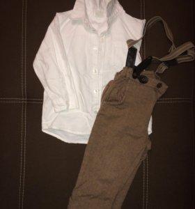 Брюки-чинос и рубашка h&m