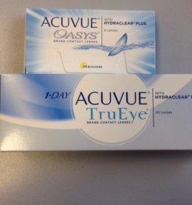 Acuvue TruEye и Acuvue Oasys контактные линзы