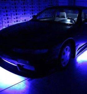 Подсветка светодиодная RGB днища дисков авто