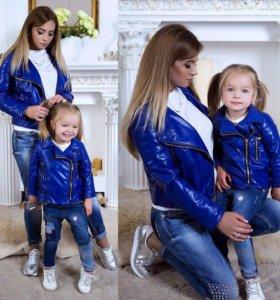Куртки мама и дочка