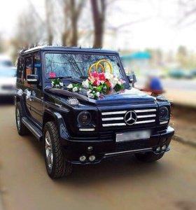 Аренда черного Гелика (W463) на свадьбу, торжество