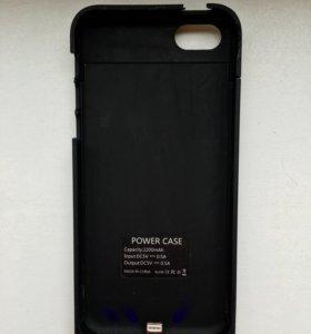 Чехол-зарядка-аккумулятор power case 5/5s