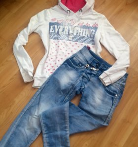 Толстовка (Colin's) + джинсы