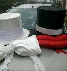 Украшение машин на свадьбу.