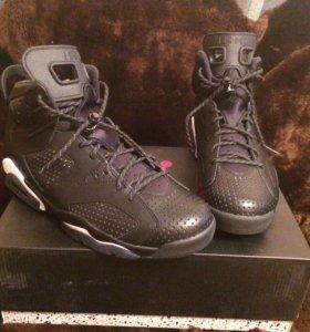 Nike air Jordan 6 black cat кроссовки баскетбольны