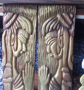 Скульптуры деревянные