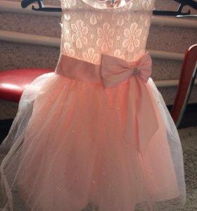 Платье и полушубок
