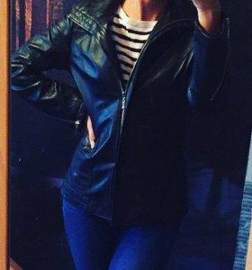 Срочно! Кожаная куртка ORSA couture Италия