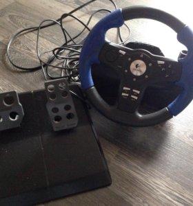 Руль Logitech + PlayStation 2