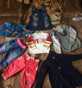 Одежда пакетом На девочку 3-4 лет