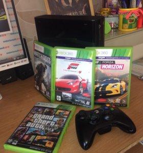 Xbox 360 E 250 гб + Kinect + игры