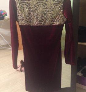 Бархатное платье новое