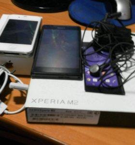 Sony Xperia m 2 и айфон 4 s